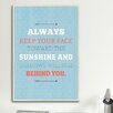 iCanvas American Flat Sunshine Textual Art on Canvas