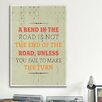 iCanvasArt American Flat A Bend Textual Art on Canvas