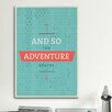iCanvasArt The Adventure Begins Textual Art on Canvas