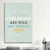 iCanvas American Flat Wildly Free Textual Art on Canvas