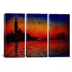 iCanvas Claude Monet Sunset in Venice 3 Piece on Canvas Set