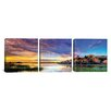 iCanvas Panoramic Willow Lake Spring Sunset by Bob Larson 3 Piece on Canvas Set