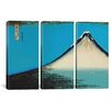 iCanvasArt Katsushika Hokusai Mount Fuji 3 Piece on Canvas Set