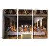 iCanvas Leonardo da Vinci The Last Supper 3 Piece on Canvas Set