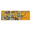 iCanvasArt Vincent van Gogh Almond Blossom 3 Piece on Canvas Set in Orange