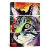iCanvas Dean Russo Curiosity Cat 3 Piece on Canvas Set
