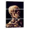 iCanvas Vincent van Gogh Skull With Cigarette 3 Piece on Canvas Set