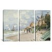 iCanvas Claude Monet La Plage a Trouville 3 Piece on Canvas Set