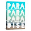 iCanvasArt Leah Flores Paradise 3 Piece on Canvas Set