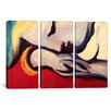 iCanvasArt Pablo Picasso The Rest 3 Piece on Canvas Set