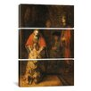 iCanvasArt Rembrandt Return of the Prodigal Son 1668-1669 Van Rijn 3 Piece on Canvas Set