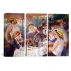 iCanvas Auguste Renoir The Luncheon of The Boating Party Pierre- 3 Piece on Canvas Set