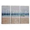 iCanvas Leah Flores Let's Run Away - To the Sea 3 Piece on Canvas Set