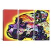 iCanvasArt Dean Russo Profile Boxer 3 Piece on Canvas Set