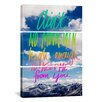 iCanvas Leah Flores Ain't No Mountain 3 Piece on Canvas Set