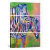 iCanvasArt Richard Wallich Zebra 3 Piece on Canvas Set
