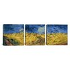 iCanvas Vincent van Gogh Wheatfield with Crows 3 Piece on Canvas Set