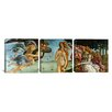 iCanvas Botticelli Sandro The Birth of Venus 3 Piece on Canvas Set