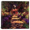 "iCanvas ""Pathway in Garden at Giverny"" Canvas Wall Art by Claude Monet"