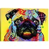 iCanvas Pug by Dean Russo Graphic Art on Canvas