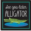 """<strong>""""Alligator"""" Canvas Wall Art by Erin Clark</strong> by iCanvasArt"""