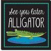 "iCanvasArt ""Alligator"" Canvas Wall Art by Erin Clark"