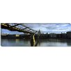 iCanvasArt Panoramic London Millennium Footbridge, St. Paul's Cathedral in Thames River, London Photographic Print on Canvas