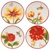 "<strong>Fitz and Floyd</strong> Flower Market 5.75"" Snack Plate (Set of 4)"