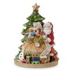 Fitz and Floyd Holiday Musical Gifts From Santa Figurine