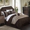 Chic Home Torino Pleated Piecing 7 Piece Comforter Set