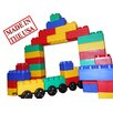 <strong>Serec Entertainment</strong> Jumbo Blocks 60 Piece Train Station Playset