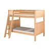 Camaflexi Bunk Bed with Angle Ladder and Panel Headboard