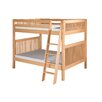 Camaflexi Full Over Full Bunk Bed with Angle Ladder and Mission Headboard