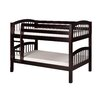 Camaflexi Low Bunk Bed with Arch Spindle Headboard