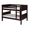 Camaflexi Low Bunk Bed with Panel Headboard