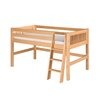 Twin Low Loft Bed with Mission Headboard