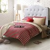 NOYA USA Kid's Twin Panel Bed with Crystal Button Tufting