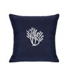 Nantucket Bound Sunbrella Lumbar Pillow With Embroidered Coral