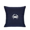 Nantucket Bound Sunbrella Pillow With Embroidered Crab
