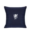 Nantucket Bound Sunbrella Lumbar Pillow With Embroidered Octopus