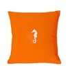 Nantucket Bound Sunbrella Lumbar Pillow With Embroidered Seahorse