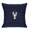 Nantucket Bound Lobster Embroidered Sunbrella Fabric Indoor/Outdoor Pillow