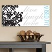 JDS Personalized Gifts Personalized Gift Live, Laugh, Love Filigree Textual Art on Canvas