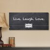 <strong>Personalized Gift Live, Laugh, Love Chalkboard Textual Art on Canvas</strong> by JDS Personalized Gifts