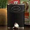 JDS Personalized Gifts Personalized Gift Leather Wrapped Flask