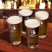 <strong>JDS Personalized Gifts</strong> Personalized Gift Sport Pub Beer Glass (Set of 4)