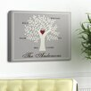 JDS Personalized Gifts Personalized Gift Family Tree Graphic Art on Canvas