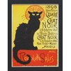 <strong>North American Art</strong> 'Cabernet Chat Noir' by Vintage Apple Framed Vintage Advertisement