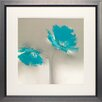 <strong>North American Art</strong> 'Aqua Platinum Petals II' by J.P. Prior Framed Painting Print