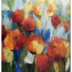 North American Art 'Meadow Flowers Canvas' by Asia Jensen Framed Painting Print